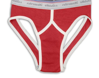 Retro jock briefs in red