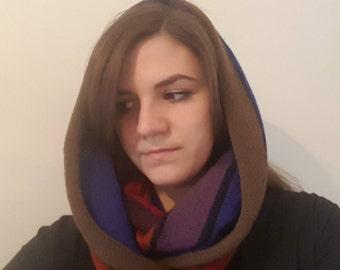 Loopschal or hose scarf made of pure virgin wool