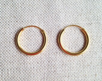 19 mm Gold Filled Hoop Earrings - Gold Hoop Earrings - Tiny Hoop Earrings - Hoop Earrings - Small Hoop Earring -  Gold Hoop Tiny