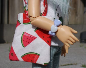 Cotton Tote Bag for 1/6 Yo-SD BJD Ball Jointed Dolls [4 prints available]