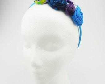 Flower Headband (turquoise, purple, white)