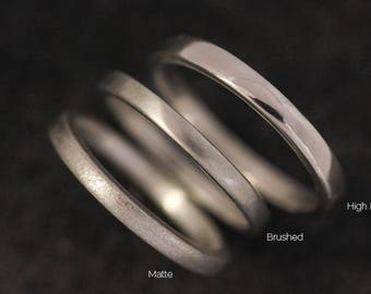 Silver Band, Simple Wedding Band, Silver Wedding Band Rings