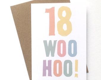 18th Birthday Card Woo Hoo