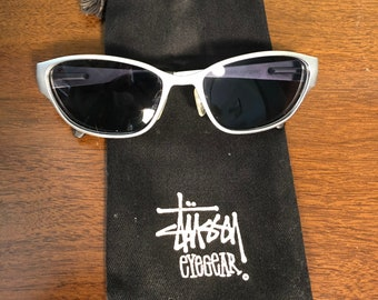 90's Stussy Maguire sunglasses eyewear with drawstring bag