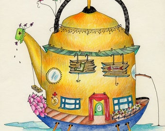 Personalized Teapot Boathouse