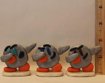 Statue= Dabbing Penguin -Polymer Clay-