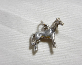 Standing Horse Charm Solid Sterling Silver .925 Equestrian -A8