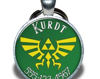 Pet ID Tag - Zelda Triforce *Inspired* - Dog tag, Cat Tag, Pet Tag