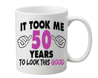 50 Years Old Birthday Mug Happy Birthday Gift Birthday Coffee Mug Coffee Cup Born in 1967 Personalized Mug ALL AGES AVAILABLE