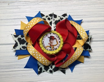 """Toy Story Woody 5.5"""" Hair bow"""