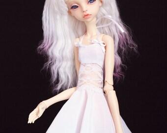 White satin dress for bjd  doll chateau kid k-7/k-11 body