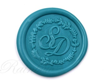 Wax Seal Stamp-Monogram wax seal-Wedding Wax Seals-Personalized Initials Wax Stamp-Double initials sealing wax-custom wedding stamp