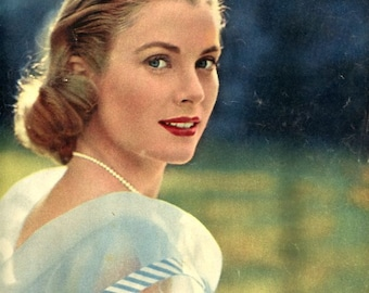 Cinemonde Magazine - Stunning Grace Kelly Cover   About French Intl Cinema 1956   36 Pages   60 Year Old Magazine !  Pretty Actresses  WoW !