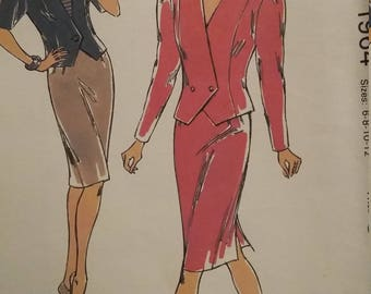 UNCUT and FF Pattern Pieces Vintage Kwik Sew 1964 Sewing Pattern Sizes 6 thru 12 Suit