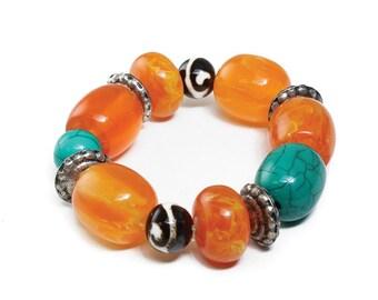 Handmade Amber Bead Bracelet