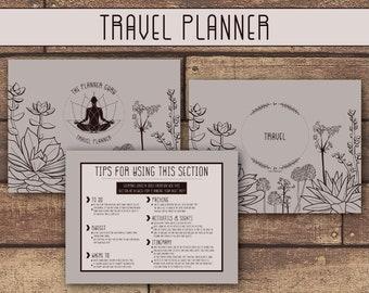 TRAVEL PRINTABLE PLANNER | Travel Binder | Travel Planner | Vacation Planner | Instant Download