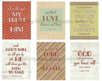 6 Project Life Bible Verse Cards