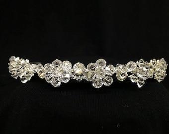 Vintage Twinkle Delicate Floral Rhinestone Beaded Tiara! Wear For Weddings, Prom, Sweet 16, Quinceanera, or Princess or Queen Costume!