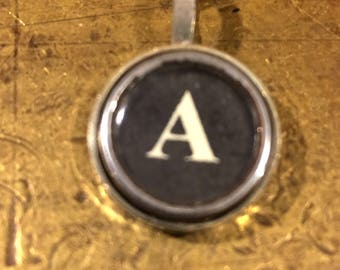 A Typewriter Key Pendant
