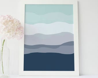 Printable Wall Art, Most Sold, Mint Print, Nursery Print, Modern Minimalist Art Print, Navy Blue Print, Best Selling Items, Downloadable Art