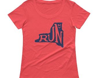 Run Upstate Ladies' Scoopneck T-Shirt