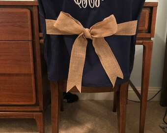 More Colors. Desk Chair Covers/Navy Monogrammed ...
