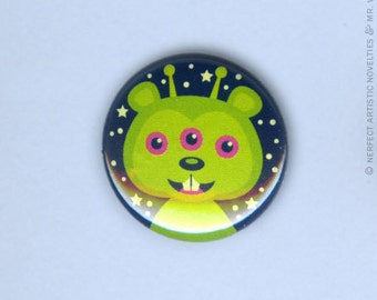 """Moon Squirrel 1"""" Pin-Back Button"""