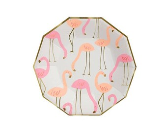 Flamingo Pattern Paper Plate Large Meri Meri Party Decor Party Supplies Summer  sc 1 st  Etsy & Flamingo paper plate | Etsy