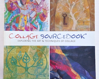 """Art Book - """"Collage Sourcebook"""" Exploring the Art & Techniques of Collage - Published by Apple Press - Art Techniques Book, Craft Book"""