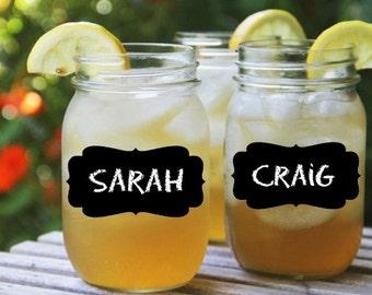 Mason Jar Chalkboard Labels Medium- set of 28 - Mason Jars for Parties &  Weddings, Organization, Wine Glasses, Canisters, Walls
