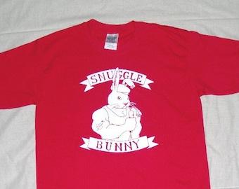 Snuggle Bunny T Shirt Red Youth Medium