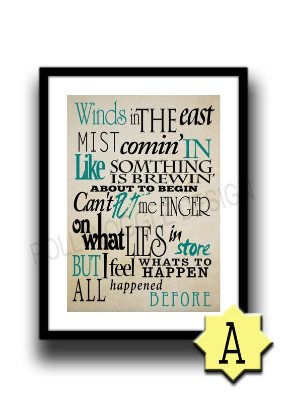 Mary Poppins Quote Poster Winds In The East Minimalist