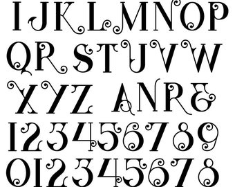 Fantasy Alphabet Monograms - Ceramic Waterslide Decal - Enamel Decal - Fusible Decal - 92241