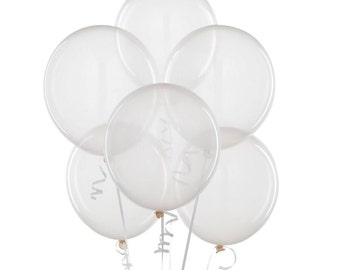 """12"""" Clear Balloons"""