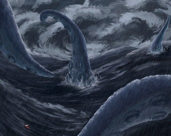 Sea Monster Print