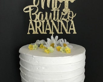 Custom Mi Bautizo Cake Topper, Mi Bautizo Cake Topper, Baptism Cake Topper, God Bless Cake Topper, Christening Cake Topper, Comm Cake Topper