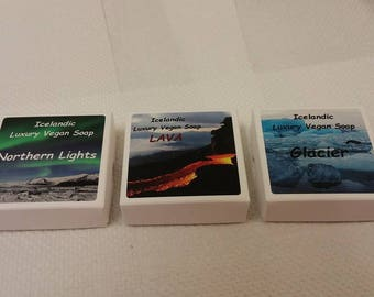 Northern Lights - Lava - Glacier - Icelandic soap - Vegan Artisan soaps