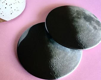Half moon coaster set / Drink coasters / Glass coasters / Housewarming gift / Planet coasters / Party Favors