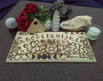 SALE - Wiccan Mystifying Oracle - Spirit Communication - Ouija Board - Maple Wood - High Quality