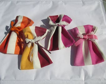 set of 4 scented sachets to fill with Lavender or sweets, gift mother's day
