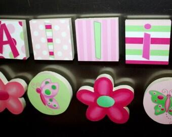 Lilac Flowers Girls Name Magnets Fridge Bedroom Magnets NM0008