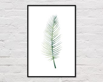 Tropical Print, Printable Palm Leaf Poster, Tropical Art, Tropical Leaf Print, Palm Leaf Poster, Palm Art, Tropical Plant Print, Download