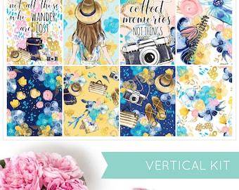Escape | VERTICAL KIT | Weekly Kit | Erin Condren | Planner Stickers