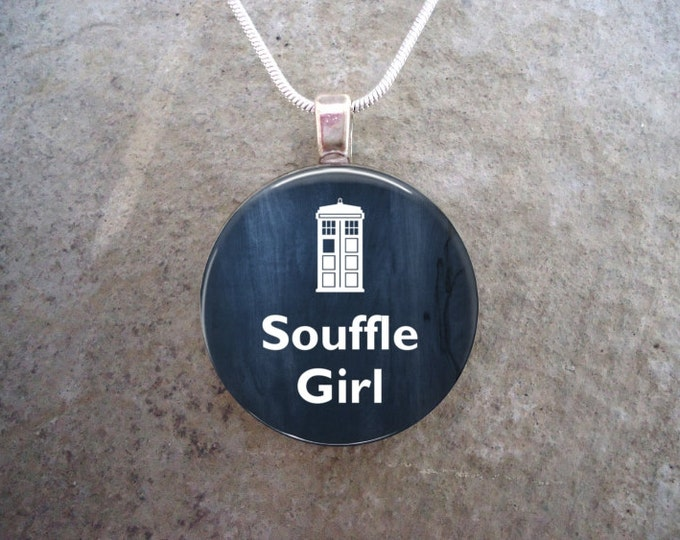 Doctor Who Jewelry - Souffle Girl - Glass Pendant Necklace