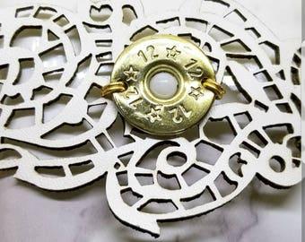 Sale! Shotgun Shell Jewelry, Wrap-Cuff Bracelet 12 gauge , CREAM/WHITE