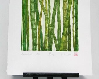 Bamboo - Original Etching