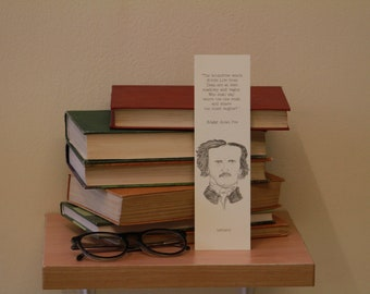 Edgar Allan Poe Quote Bookmark (own illustration)