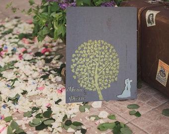Heart 7 wedding anniversary tree guestbook