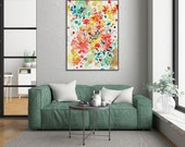Large Wall Art Watercolor Flowers Print Watercolor Painting Mothers Day Gift Living Room Decor Botanical Print Wall Art Print CreativeIngrid