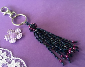 Tassel Bag Charm, Tassel Key Ring